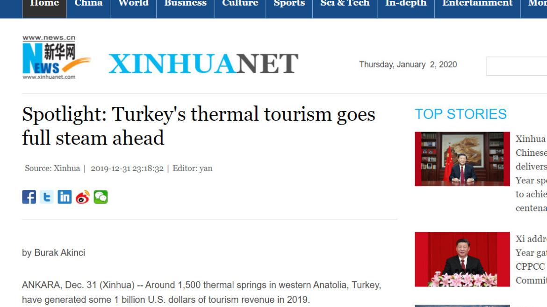 Spotlight: Turkey's thermal tourism goes full steam ahead