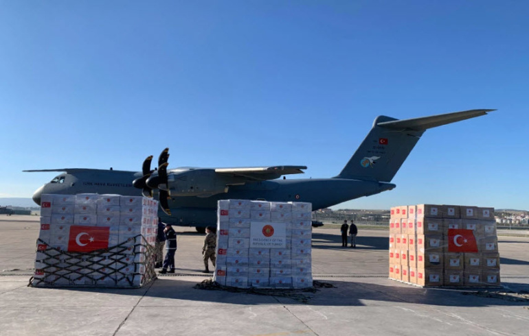 HELPING HAND Turkey sends planeloads of coronavirus emergency equipment to the UK to help medics on the frontline